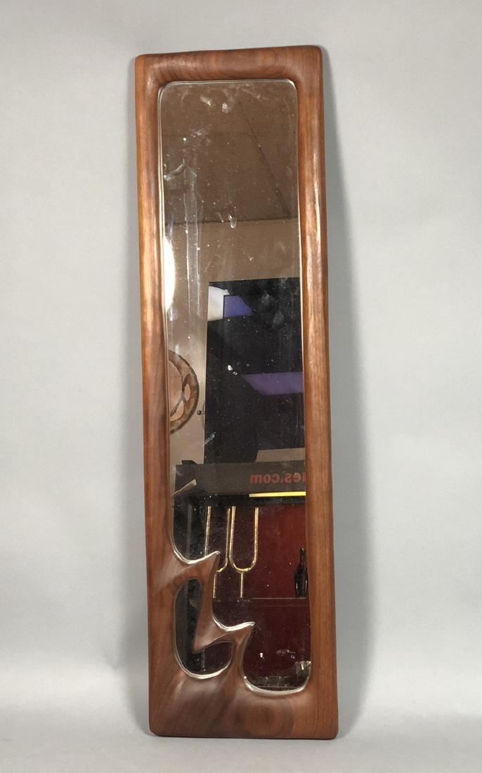 DESIGNS in WOOD Modern Walnut Wood Frame Mirror.