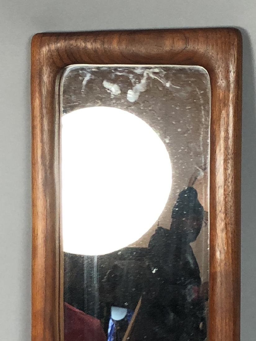 DESIGNS in WOOD Modern Walnut Wood Frame Mirror. - 3