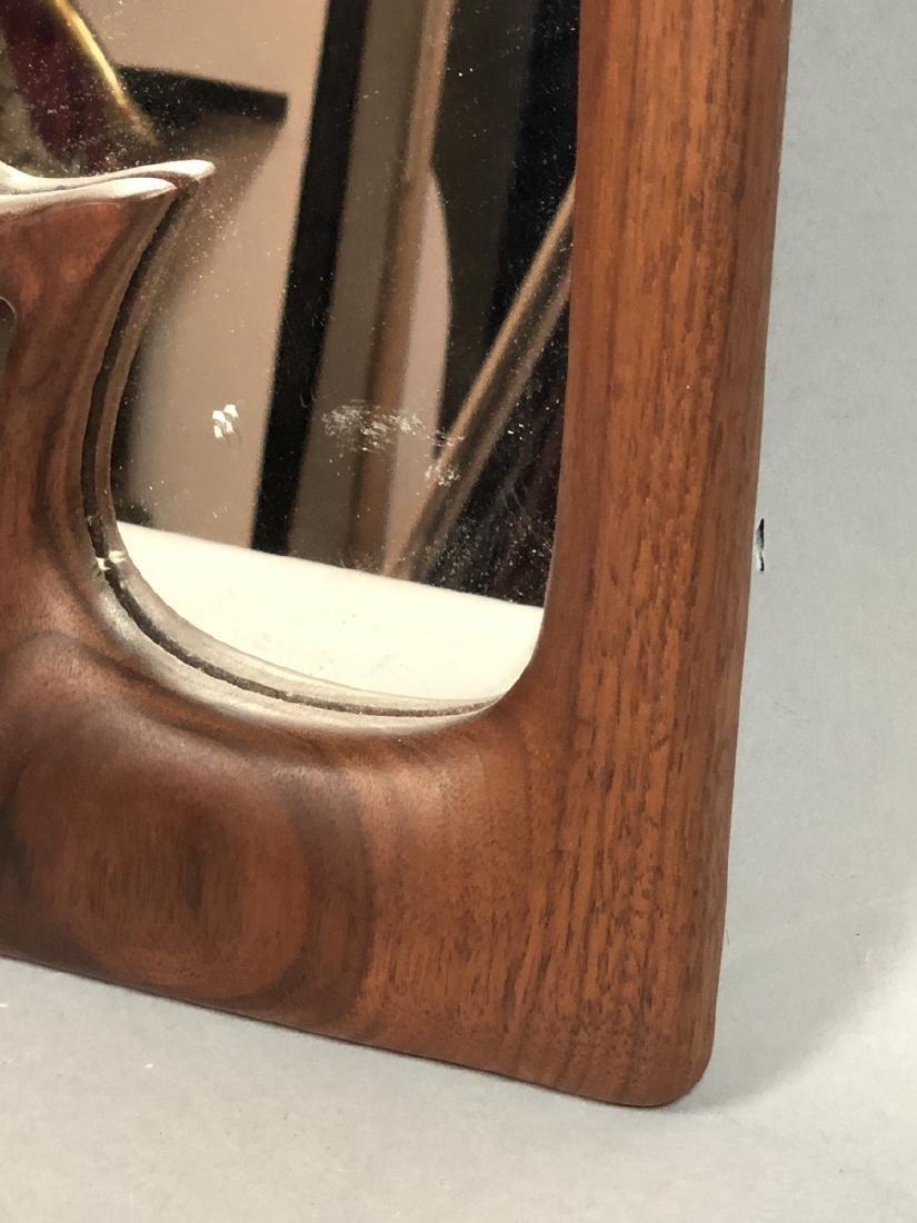 DESIGNS in WOOD Modern Walnut Wood Frame Mirror. - 4