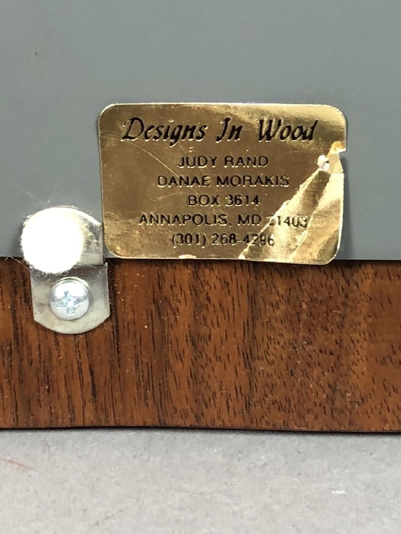 DESIGNS in WOOD Modern Walnut Wood Frame Mirror. - 5
