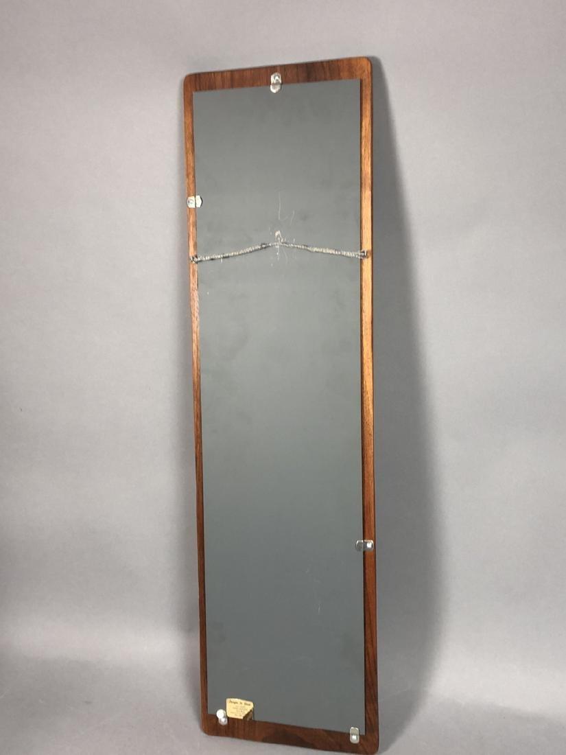 DESIGNS in WOOD Modern Walnut Wood Frame Mirror. - 6
