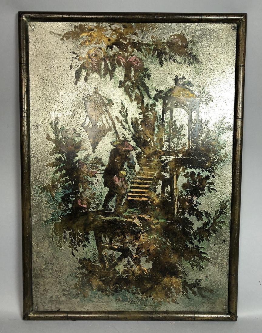 PHILIP KELVIN LaVERNE Embossed Bronze Plaque. Fau