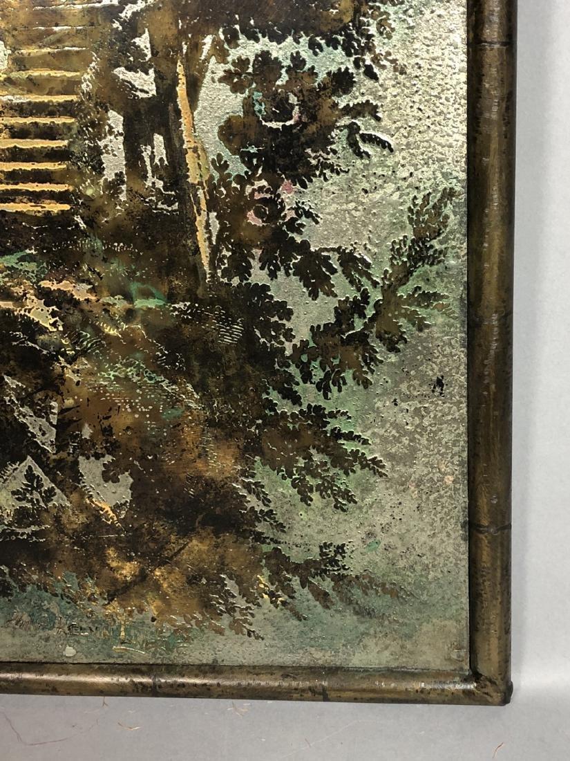 PHILIP KELVIN LaVERNE Embossed Bronze Plaque. Fau - 5