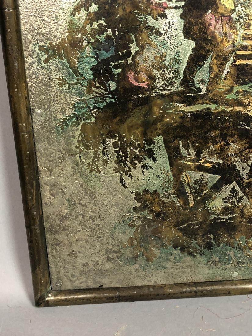 PHILIP KELVIN LaVERNE Embossed Bronze Plaque. Fau - 6