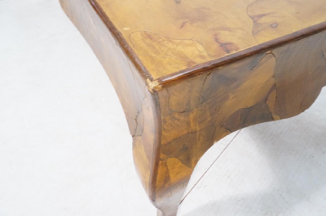 Italian Olive Wood Decorator Coffee Cocktail tabl - 6