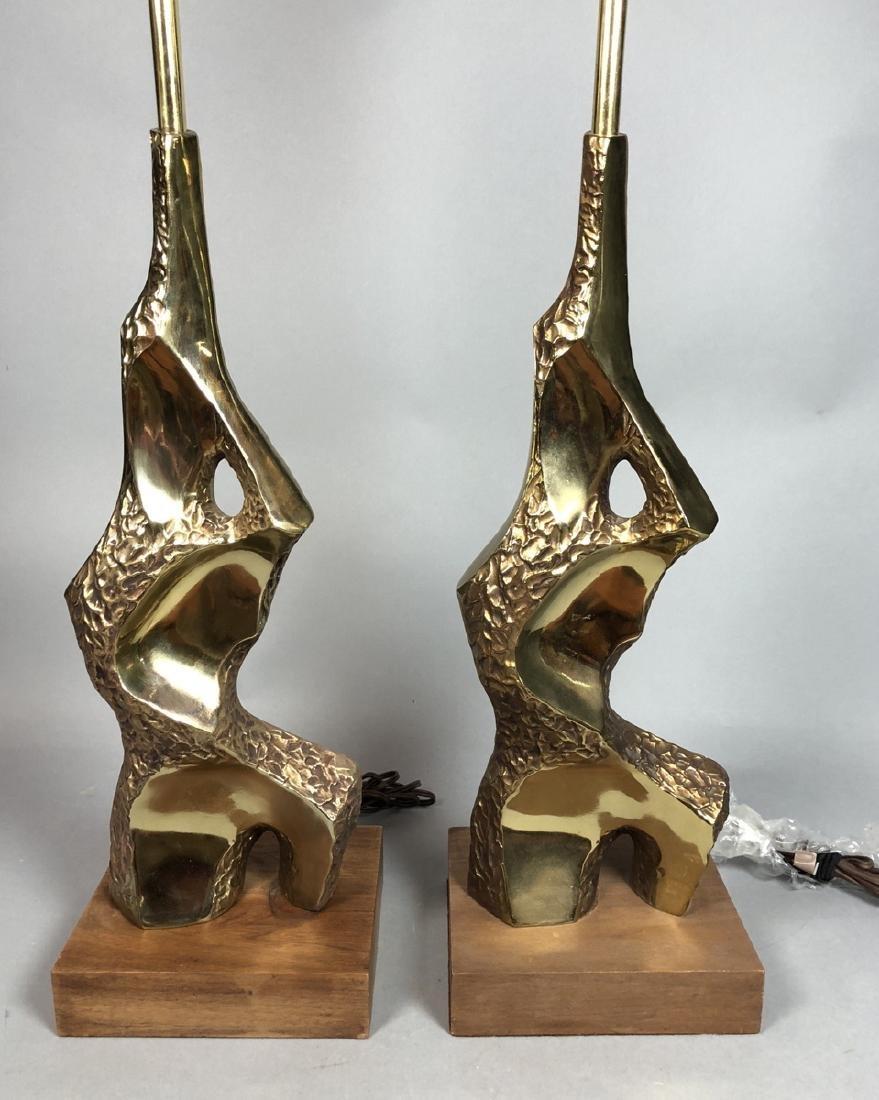 Pr TEMPESTINI for LAUREL Brutalist Table Lamps. G