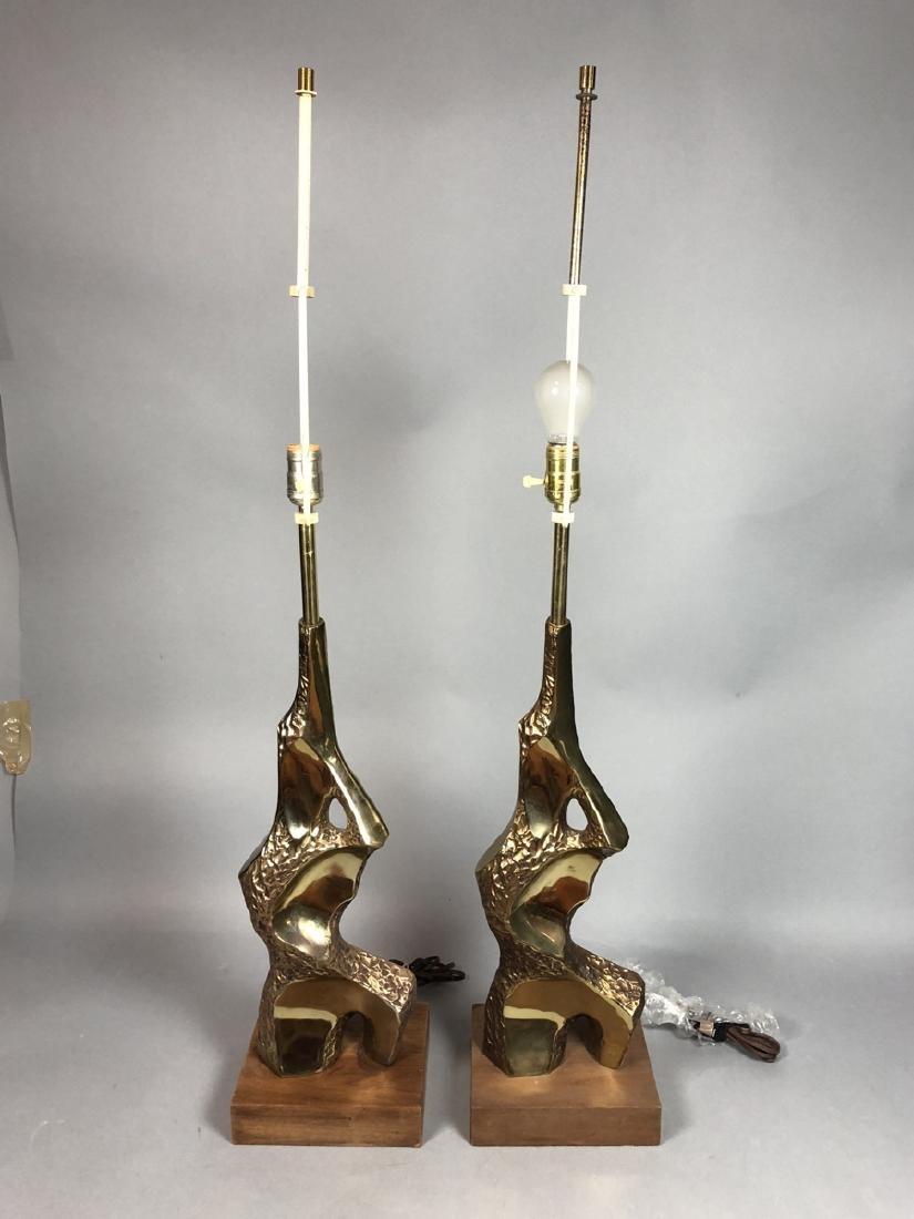 Pr TEMPESTINI for LAUREL Brutalist Table Lamps. G - 2
