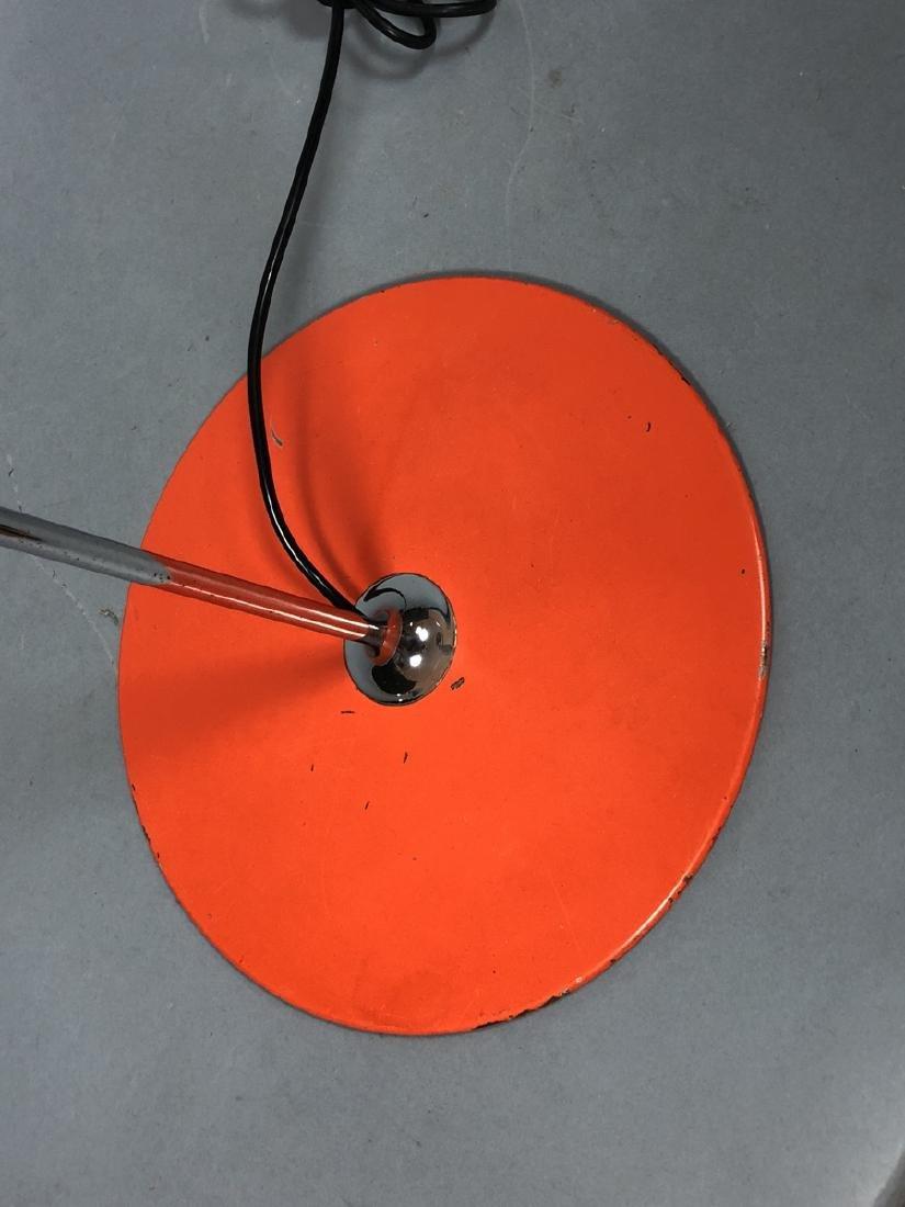 JOE COLUMBO Orange Enamel Floor Lamp. Chrome tube - 4