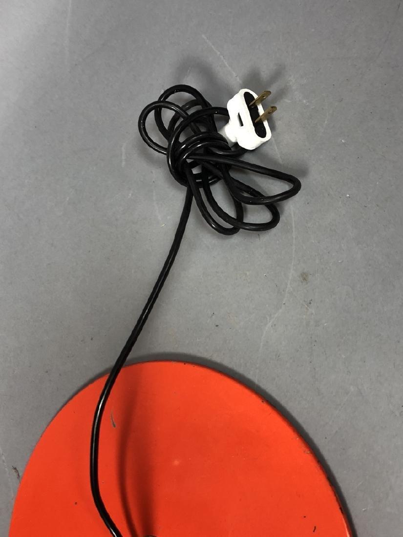 JOE COLUMBO Orange Enamel Floor Lamp. Chrome tube - 5