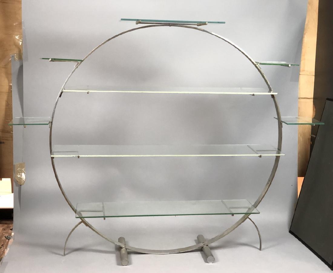 Vintage Art Deco Steel Hoop Plant Display Stand.