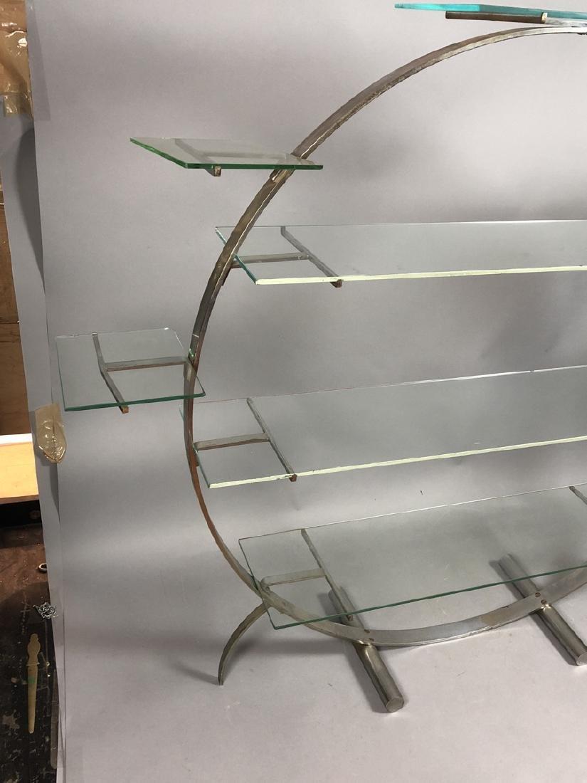 Vintage Art Deco Steel Hoop Plant Display Stand. - 2