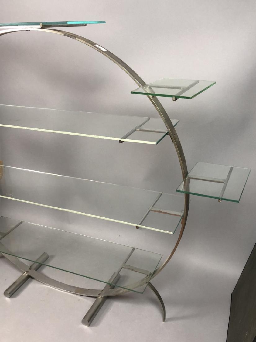 Vintage Art Deco Steel Hoop Plant Display Stand. - 3