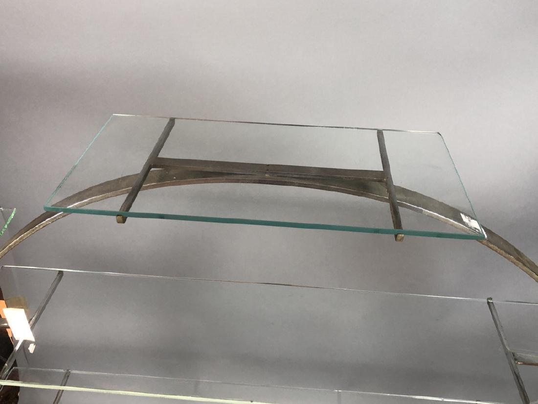 Vintage Art Deco Steel Hoop Plant Display Stand. - 4