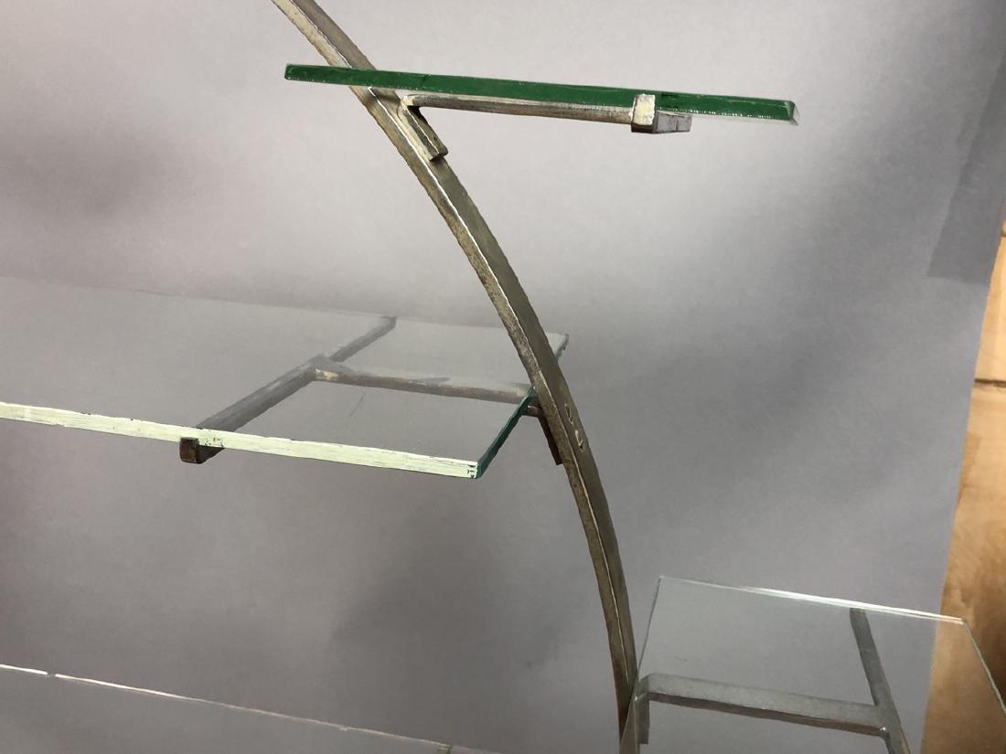 Vintage Art Deco Steel Hoop Plant Display Stand. - 5