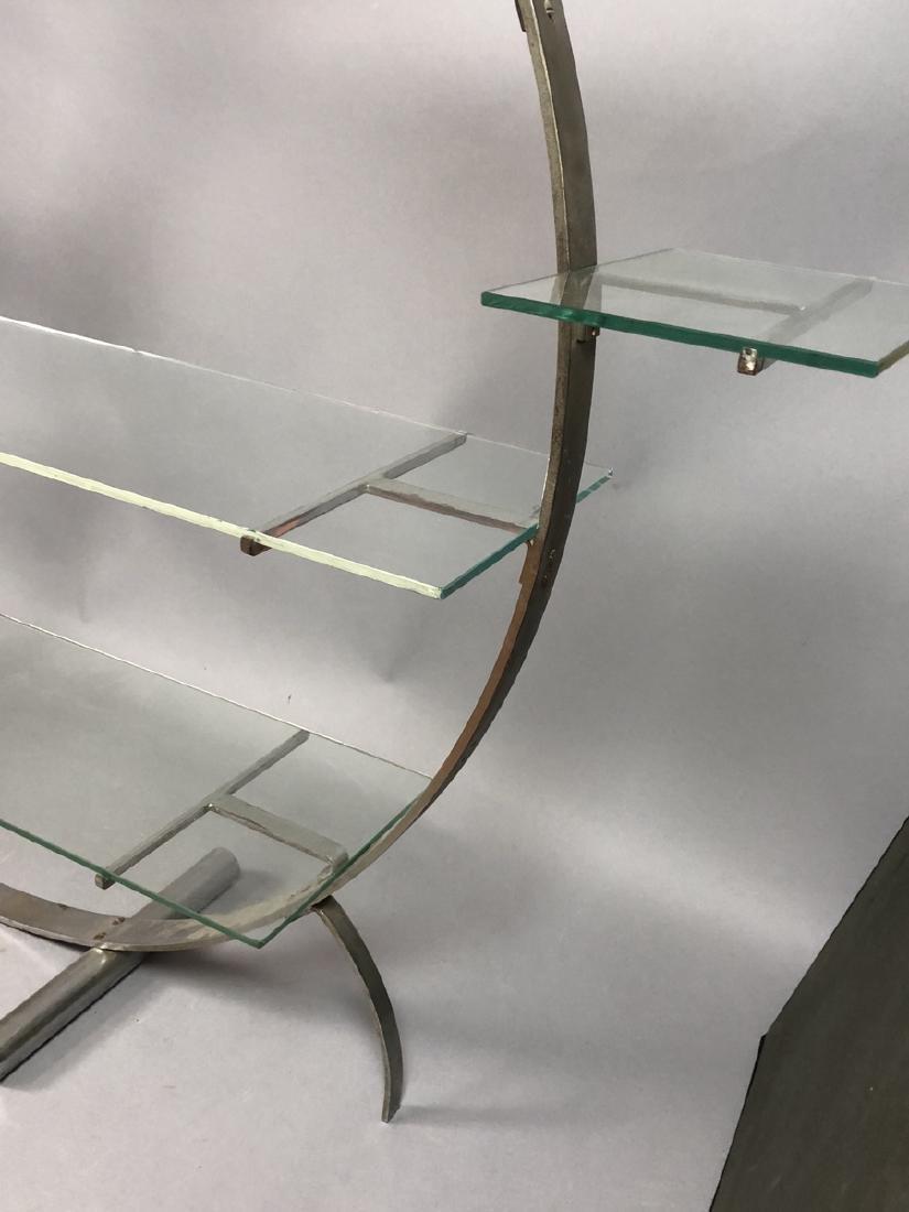 Vintage Art Deco Steel Hoop Plant Display Stand. - 6