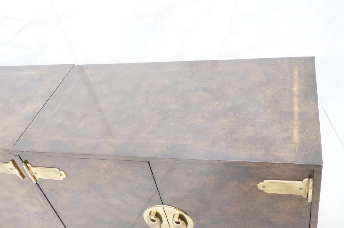 MASTERCRAFT Modernist Burl Wood Credenza Sideboar - 5