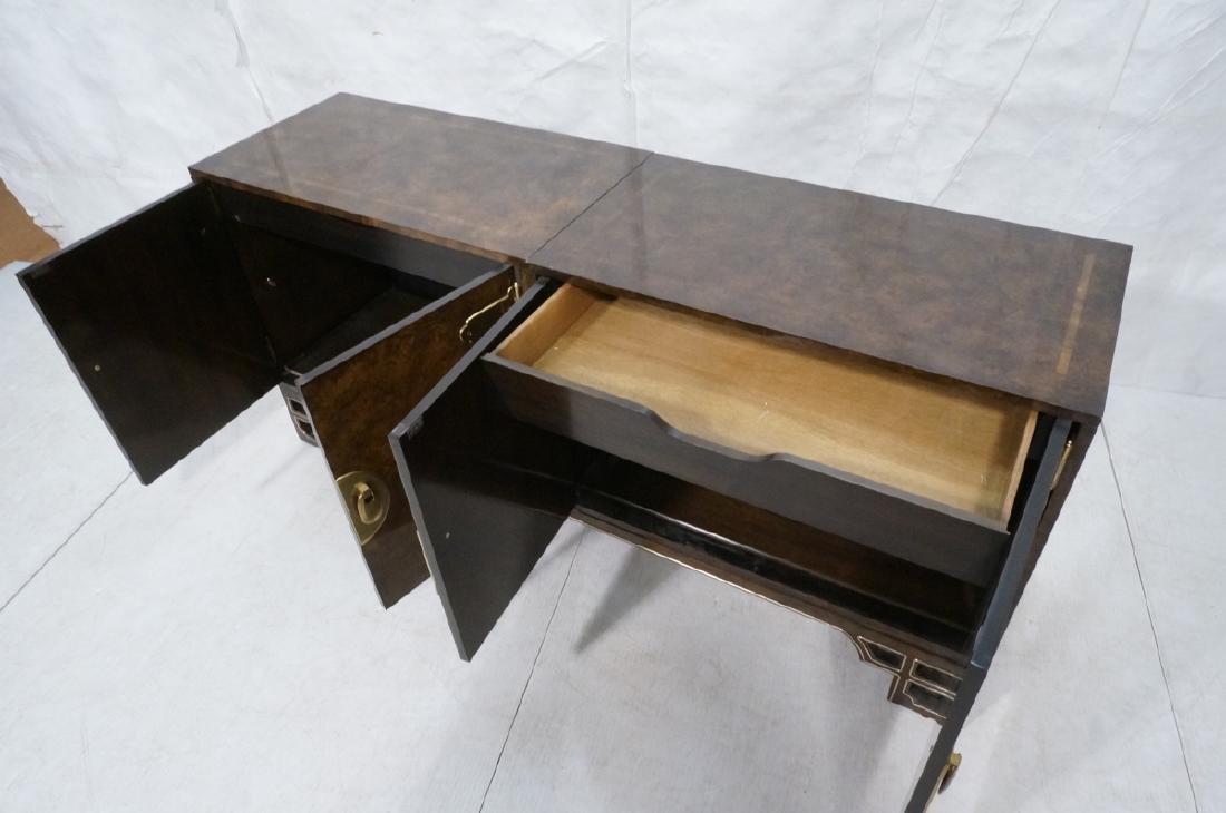 MASTERCRAFT Modernist Burl Wood Credenza Sideboar - 9