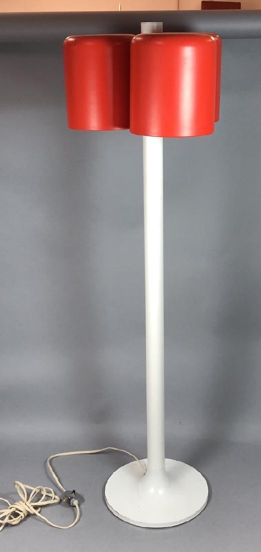 JOE COLUMBO 3 Shade Floor Lamp. White enamel tuli