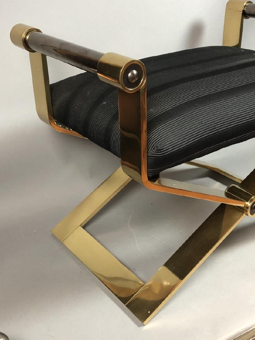KARL SPRINGER Regency Style Brass Stool Bench. He - 2