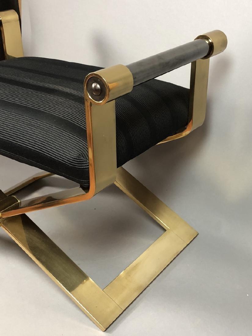 KARL SPRINGER Regency Style Brass Stool Bench. He - 3