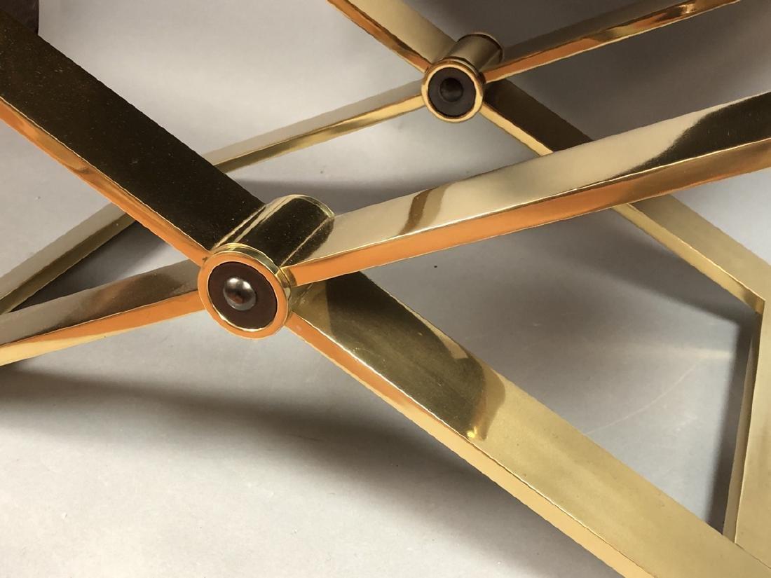 KARL SPRINGER Regency Style Brass Stool Bench. He - 4