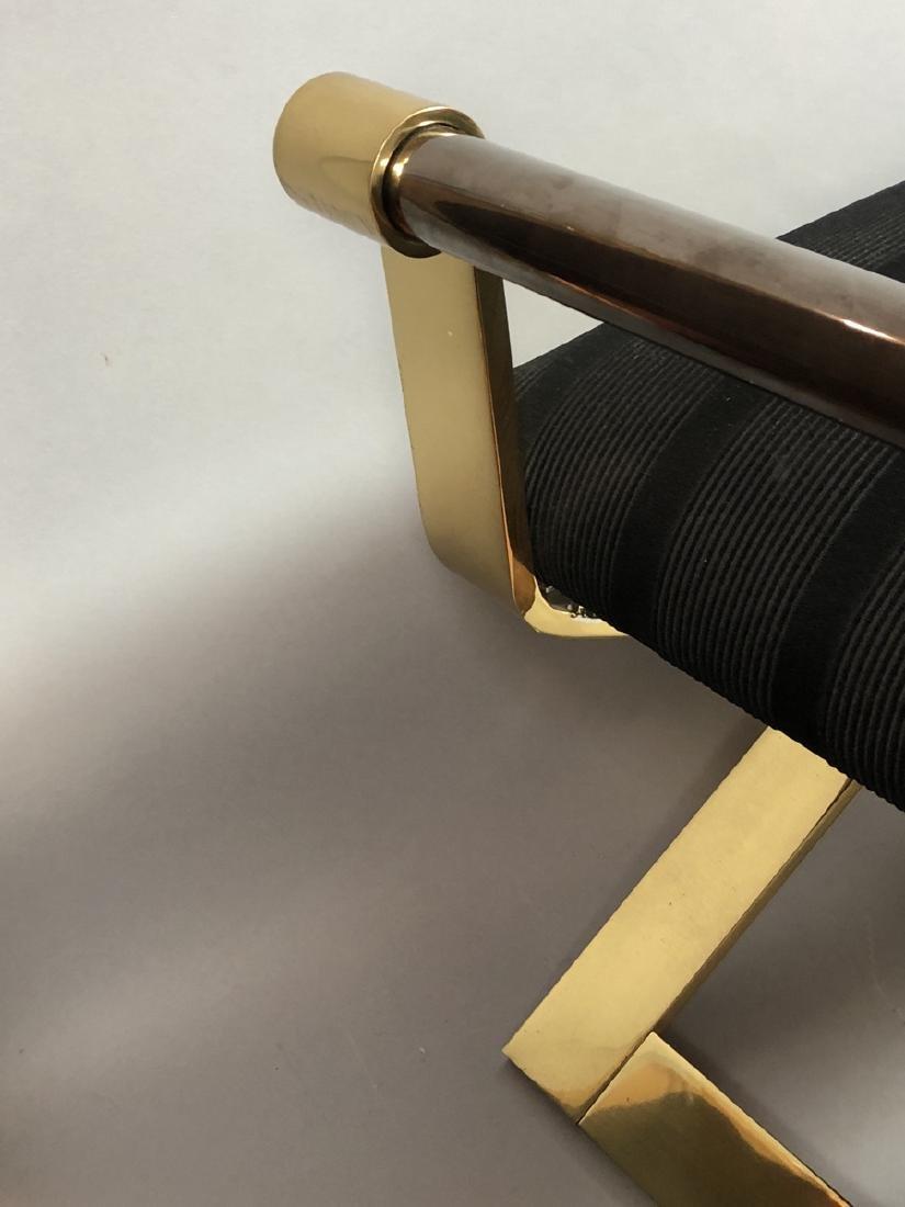KARL SPRINGER Regency Style Brass Stool Bench. He - 6