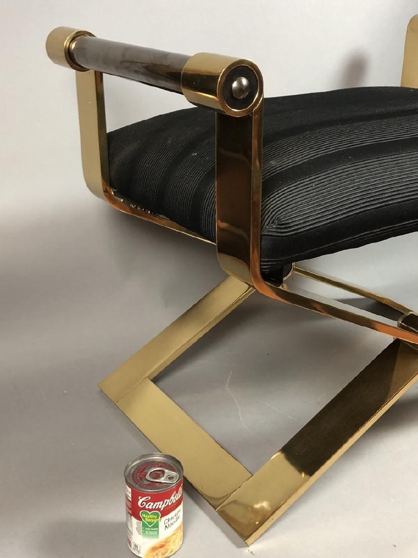 KARL SPRINGER Regency Style Brass Stool Bench. He - 7