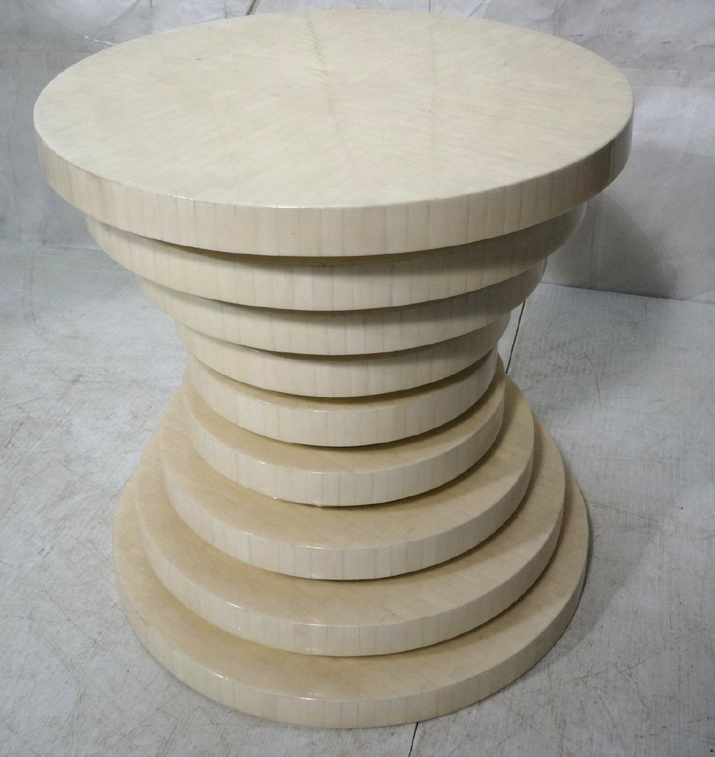 ENRIQUE GARCEL Tessellated Stepped Side Table. Co