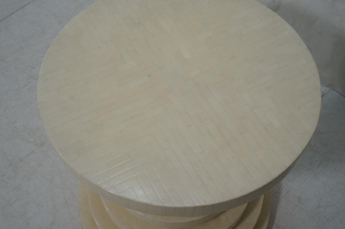 ENRIQUE GARCEL Tessellated Stepped Side Table. Co - 2