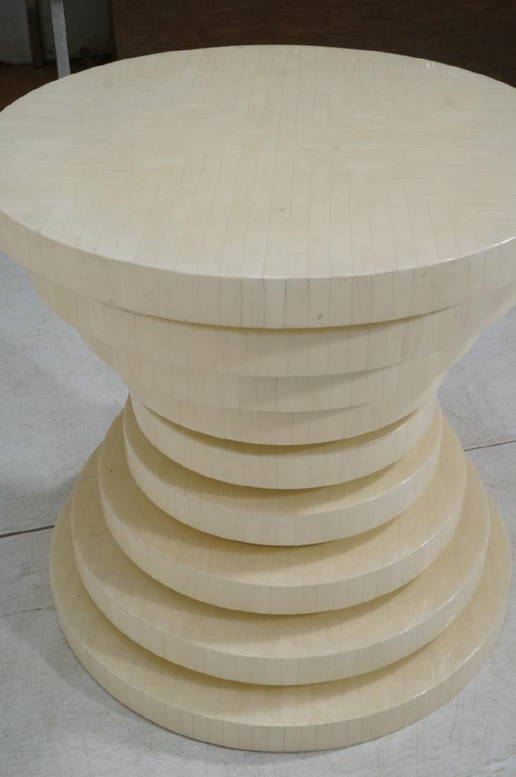 ENRIQUE GARCEL Tessellated Stepped Side Table. Co - 5
