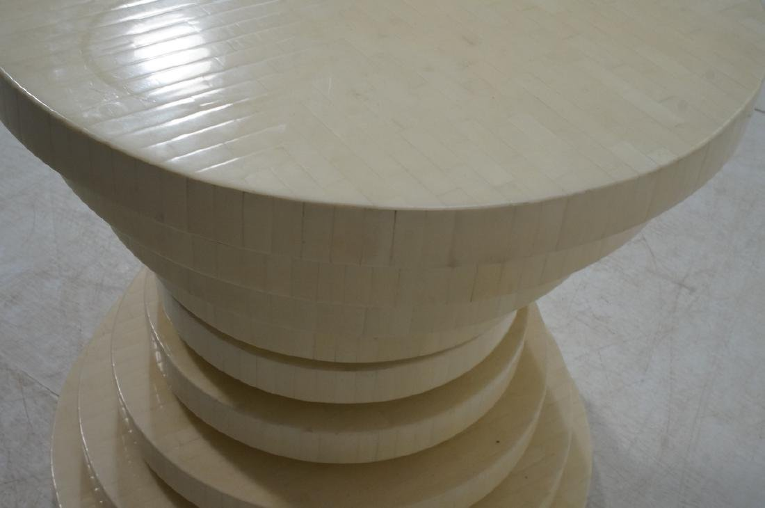 ENRIQUE GARCEL Tessellated Stepped Side Table. Co - 7