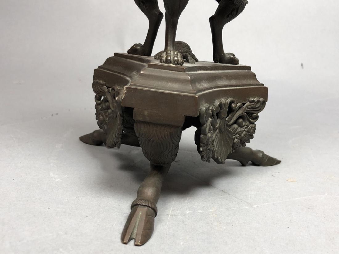 Vintage Bronze Figural Sculpture Atlas & Globe. E - 7