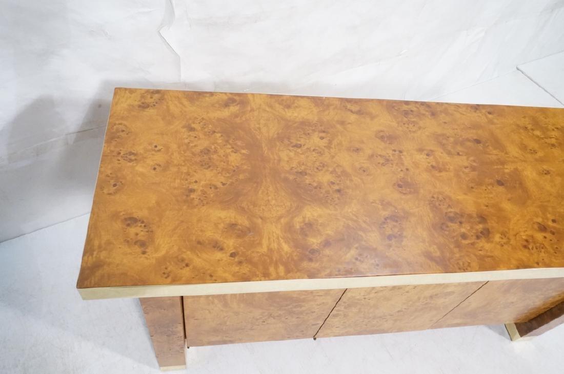 Modern Burl Wood Brass Trim Credenza Sideboard. B - 3