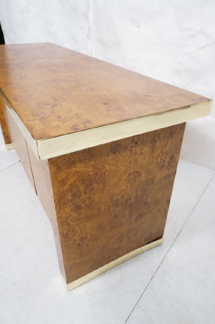 Modern Burl Wood Brass Trim Credenza Sideboard. B - 5