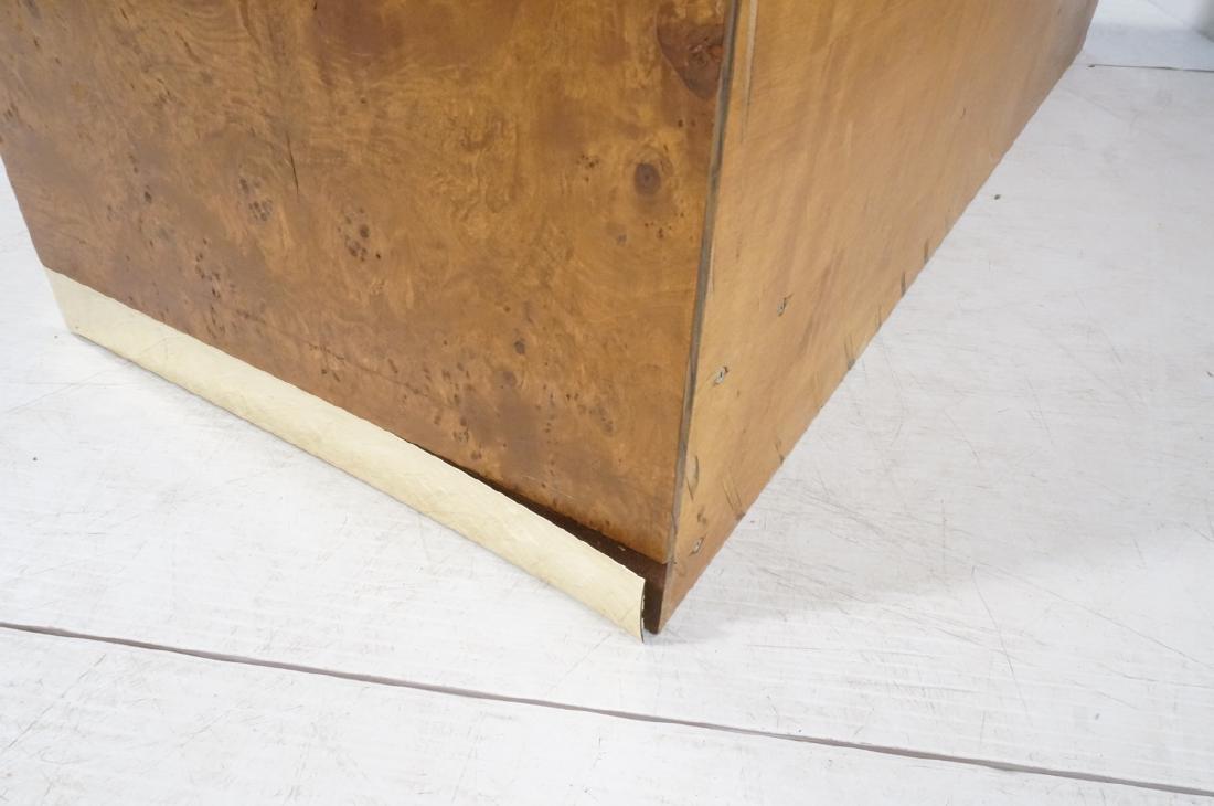 Modern Burl Wood Brass Trim Credenza Sideboard. B - 6