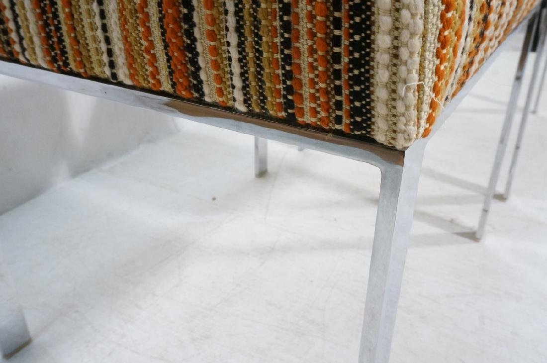Pr Chrome Steel Frame Benches Stools. Flat chrome - 3