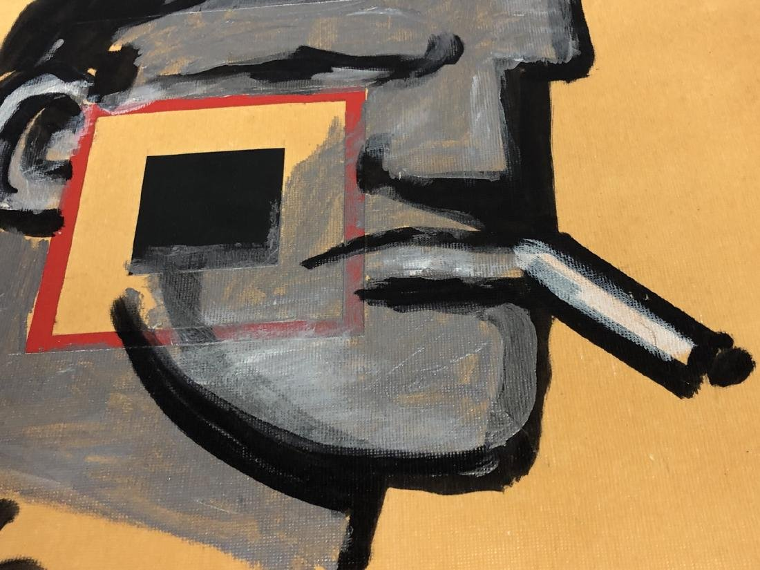 ROBERT LOUGHLIN 'Brute' Oil Painting on textured - 3
