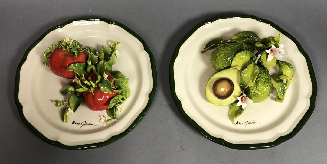 2pc EVA GORDON Sculptural Figural Fruit Plates. 3