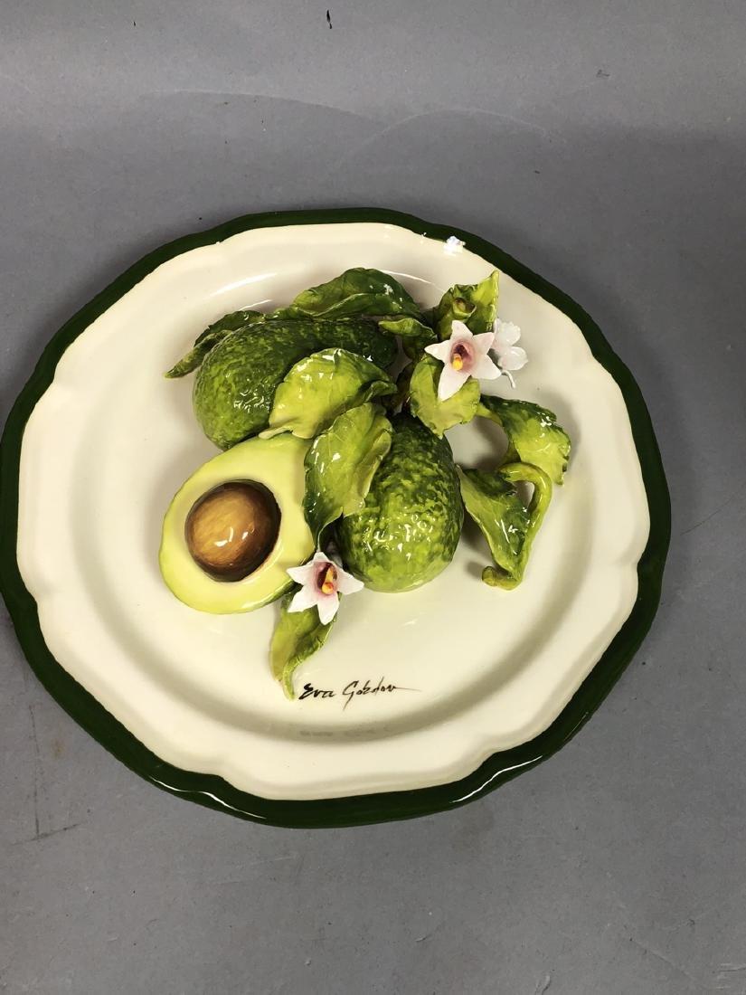 2pc EVA GORDON Sculptural Figural Fruit Plates. 3 - 3