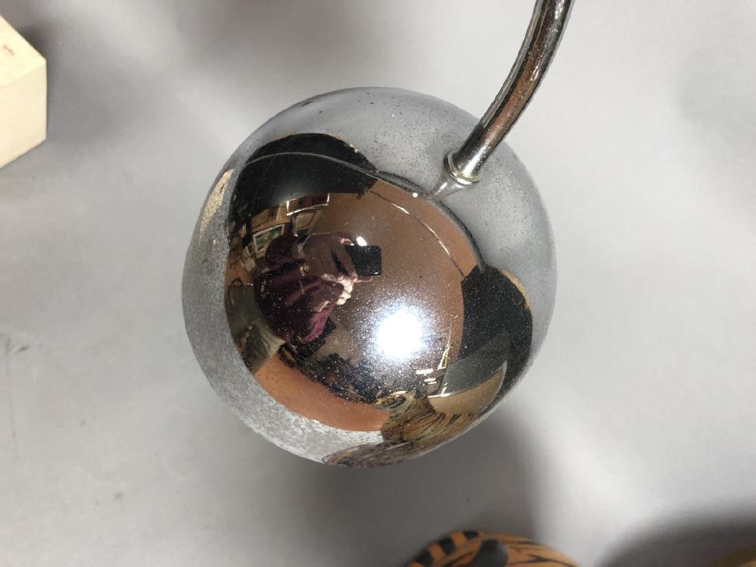 ROBERT SONNEMAN Travertine Marble Chrome Table La - 5