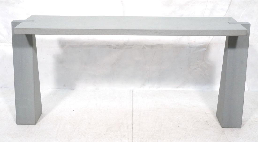 ANGELO MANGIAROTTI Italian Concrete Console Table