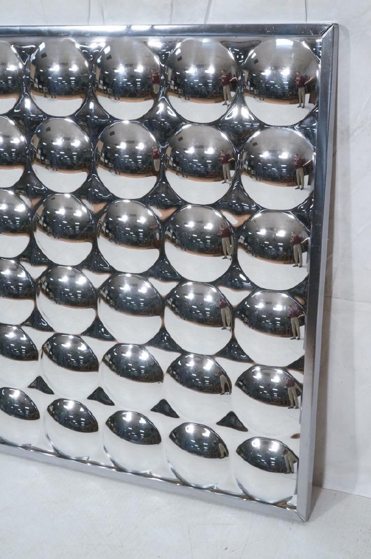 Optical Illusion Mirrored Wall Art Sculptural Pan - 2