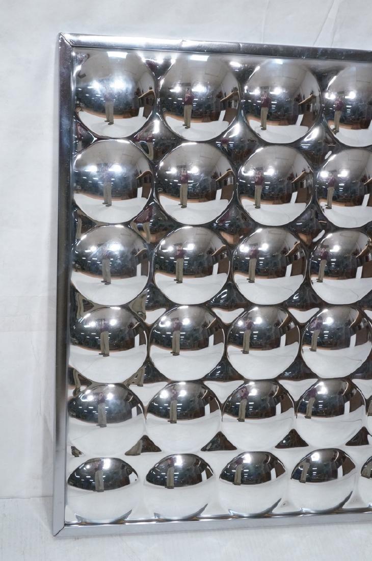 Optical Illusion Mirrored Wall Art Sculptural Pan - 3