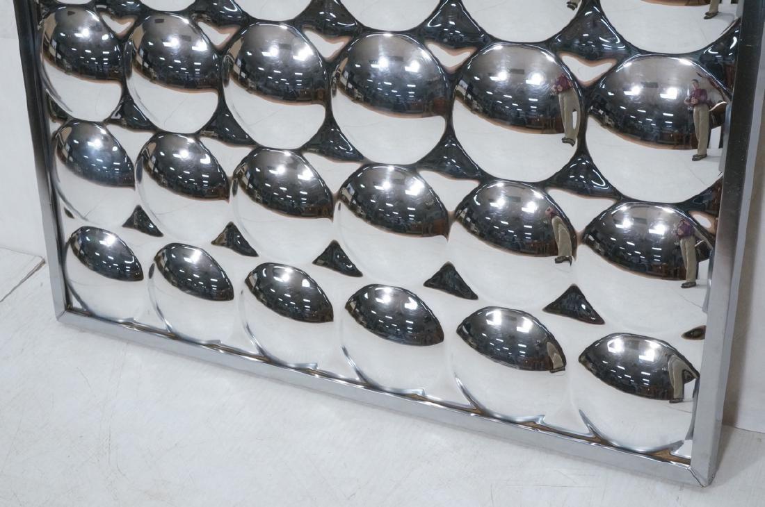 Optical Illusion Mirrored Wall Art Sculptural Pan - 6