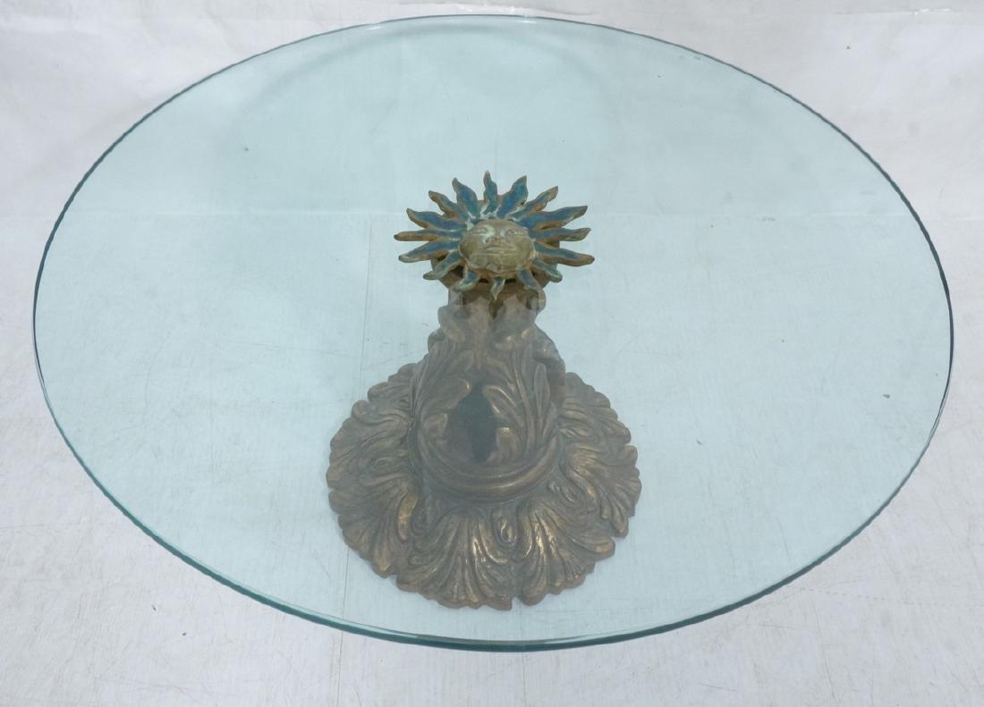PEPE MENDOZA Sun Medallion Attached Cocktail Tabl