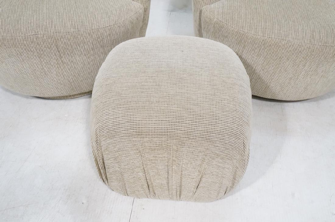3pc VLADIMIR KAGAN Modern Seating. 2 Swivel barre - 3