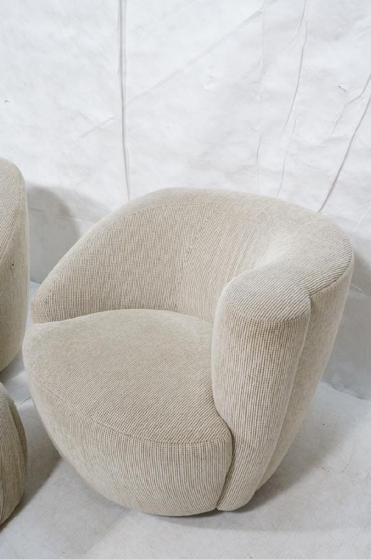 3pc VLADIMIR KAGAN Modern Seating. 2 Swivel barre - 4