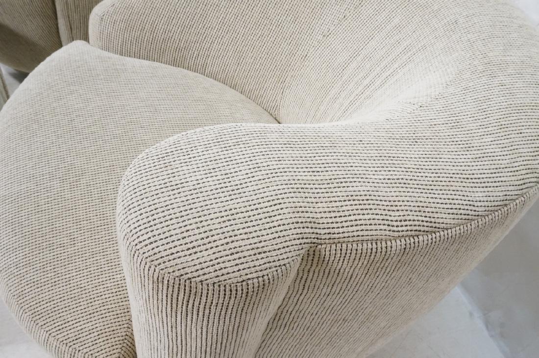 3pc VLADIMIR KAGAN Modern Seating. 2 Swivel barre - 5
