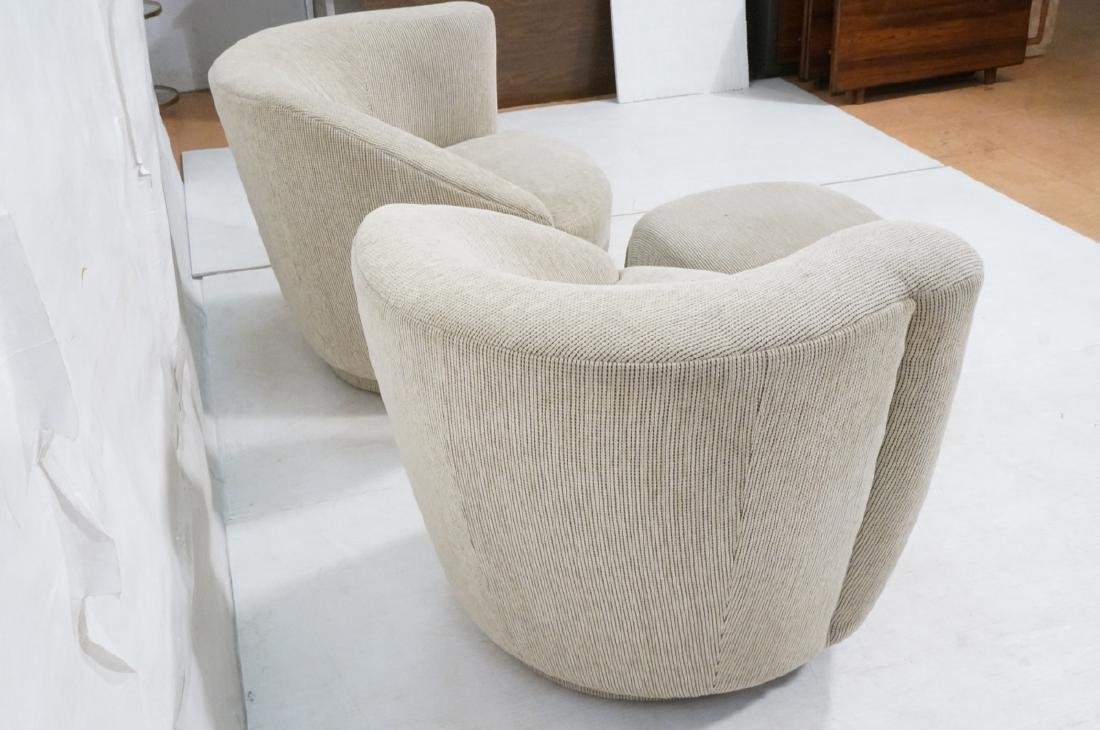 3pc VLADIMIR KAGAN Modern Seating. 2 Swivel barre - 7
