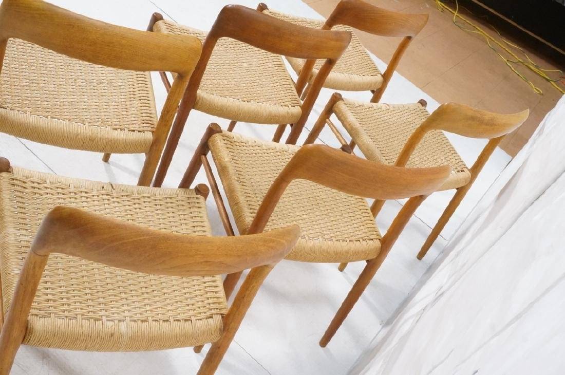 6 Danish Modern MOLLER Teak Dining Chairs. Woven - 10